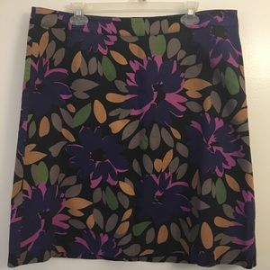 Boden Floral Straight Pencil Skirt